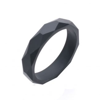 Silicone Teething Bangle Black
