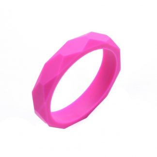 Silicone Teething Bangle Hot Pink