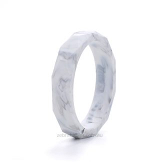 Marble Silicone Bangle Zebra Babies