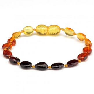 amber teething bracelet rainbow beans