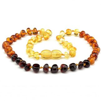 Amber Baby NECKLACE Rainbow Baroque| 32cm