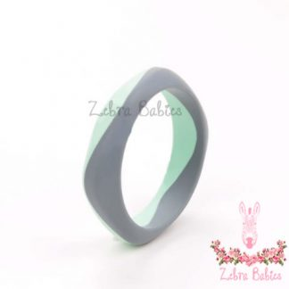 Silicone Bangle Colour Duo - Mint and Grey